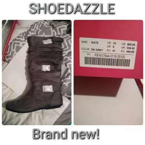Grey boots size 10
